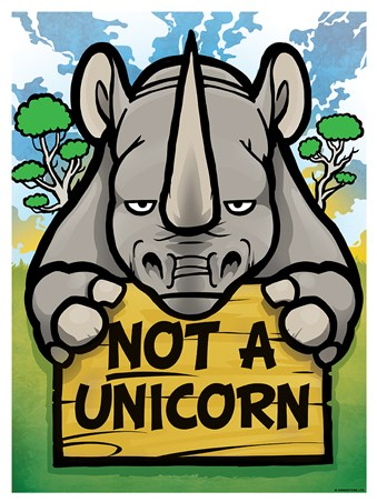 Not A Unicorn Mini Poster - Realist
