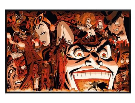 Gloss Black Framed Comic Villains - Batman