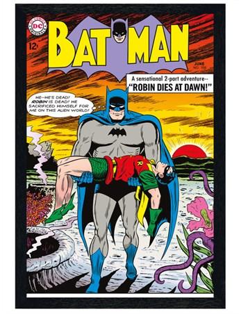 Black Wooden Framed Robin Dies At Dawn - Batman