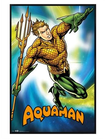 Gloss Black Framed Aquaman - DC Comics