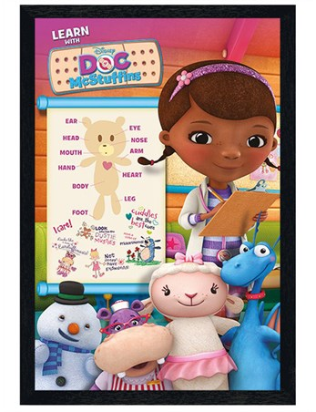 Black Wooden Framed Learning Fun With Doc McStuffins - An Exciting Biology Class!