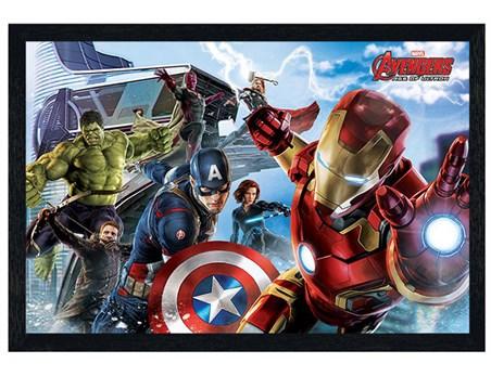 Black Wooden Framed Avengers Re-Assemble - Avengers Age of Ultron