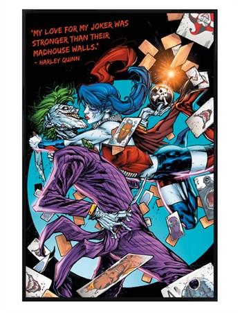 Gloss Black Framed Love For The Joker - Harley Quinn Joker