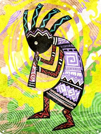 Kokopelli, Native American God Tin Sign - Buy Online