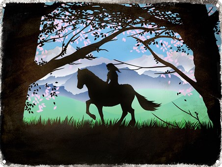 Framed Link & Epona - Inspired by Legend Of Zelda