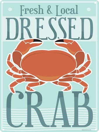 Fresh & Local Dressed Crab - Living by the coast