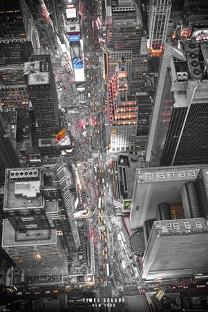 Neon Lights At Times Square, New York
