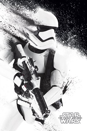 Stormtrooper Paint Star Wars Poster