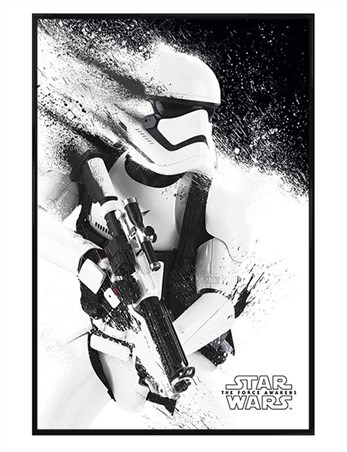 Gloss Black Framed The Force Awakens Stormtrooper Paint - Star Wars