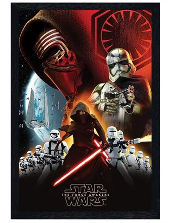 Black Wooden Framed The First Order - Star Wars Episode VII