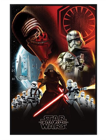 Gloss Black Framed The First Order - Star Wars Episode VII