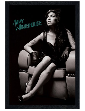 Black Wooden Framed A True Talent - Amy Winehouse