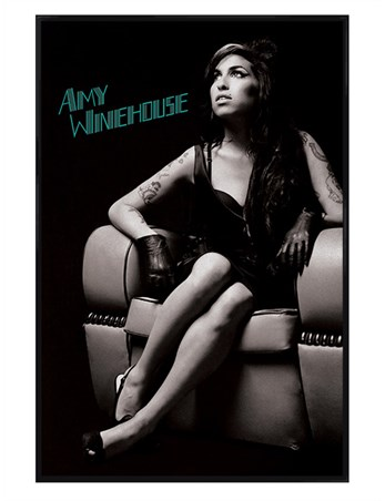 Gloss Black Framed A True Talent - Amy Winehouse