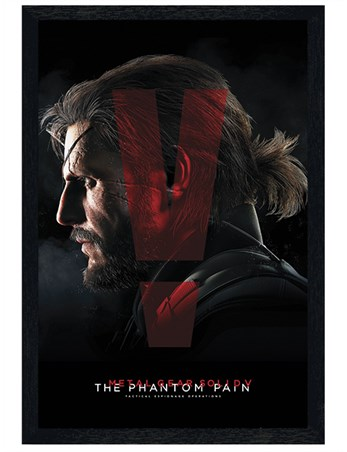 Black Wooden Framed Metal Gear Solid V - The Phantom Pain