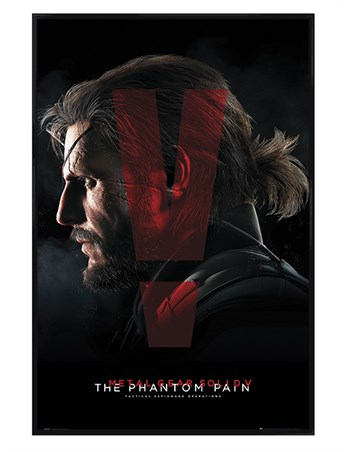 Gloss Black Framed Metal Gear Solid Presents - The Phantom Pain