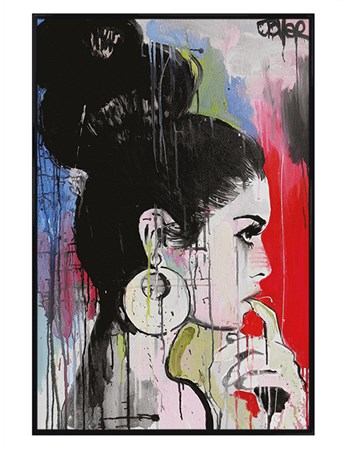 Gloss Black Framed Planets - Loui Jover