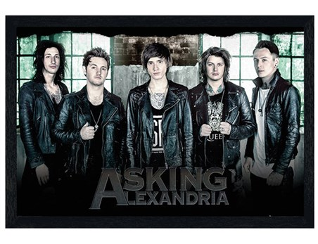Black Wooden Framed Window - Asking Alexandria
