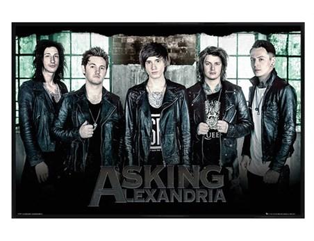 Gloss Black Framed Band Window - Asking Alexandria