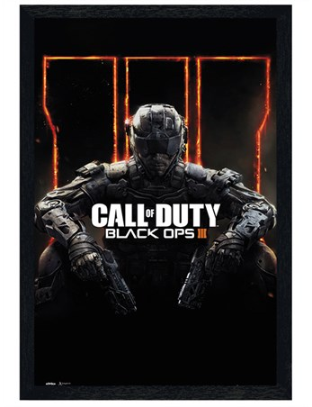 Black Wooden Framed Immortalise Yourself - Call of Duty Black Ops 3