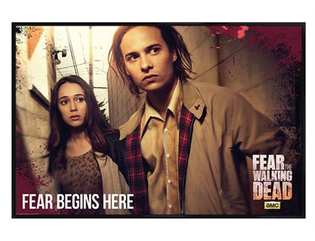Gloss Black Framed Fear Begins Here - Fear The Walking Dead