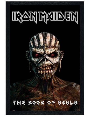Black Wooden Framed The Book Of Souls - Iron Maiden