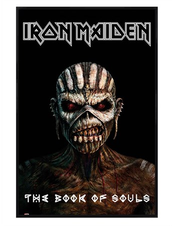 Gloss Black Framed The Book Of Souls - Iron Maiden