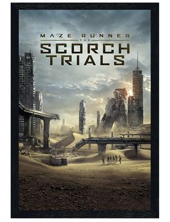Black Wooden Framed Scorch Trials - Maze Runner 2