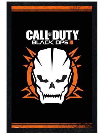 Black Wooden Framed Black Ops 3 - Call of Duty