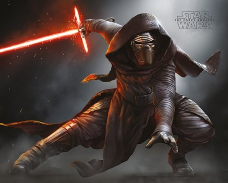 Kylo Ren Crouching - Star Wars Episode VII
