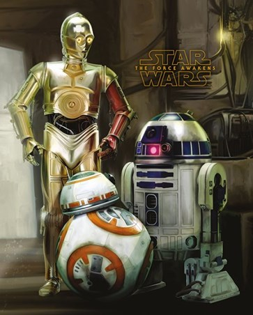 C-3PO, R2-D2 And BB-8 - Star Wars Episode VII