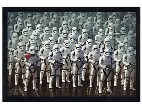 Black Wooden Framed Stormtrooper Elite Army - Star Wars Episode VII