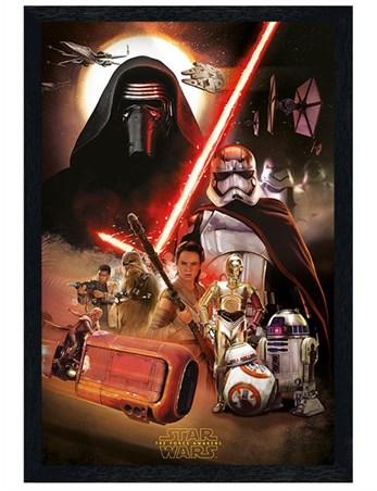 Black Wooden Framed - Star Wars Episode VII