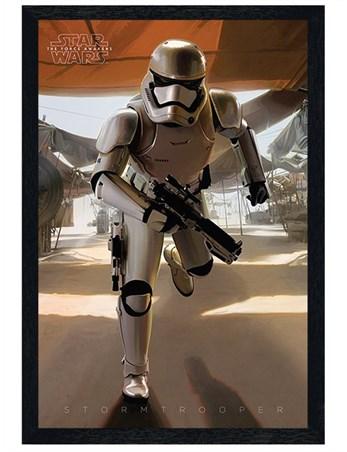 Black Wooden Framed Armed And Dangerous - Star Wars Episode VII