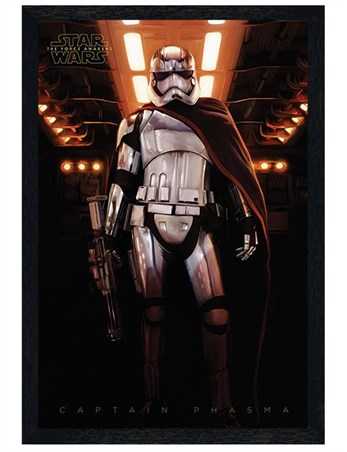 Black Wooden Framed Captain Phasma - Star Wars Episode VII