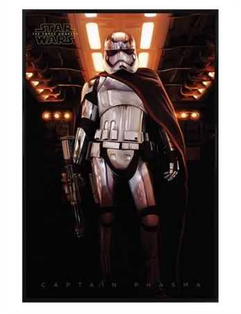 Gloss Black Framed Captain Phasma - Star Wars Episode VII