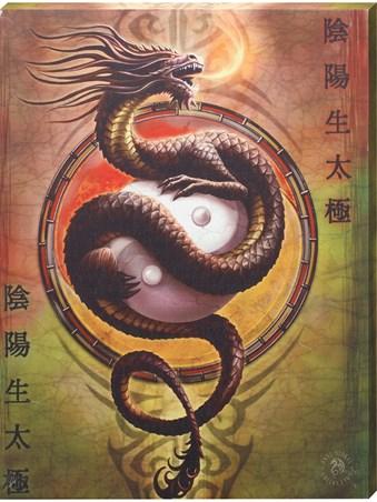Framed Yin Yang Protector - Anne Stokes