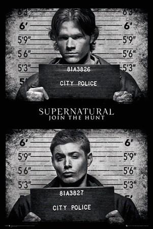 Framed Horrifying Mug Shots - Supernatural