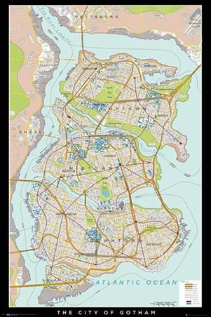 Gotham Map - Batman Begins