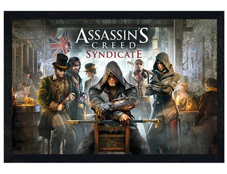 Black Wooden Framed Cobbled Streets Of London - Assassin's Creed Syndicate