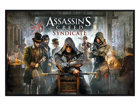 Gloss Black Framed Cobbled Streets Of London - Assassin's Creed Syndicate
