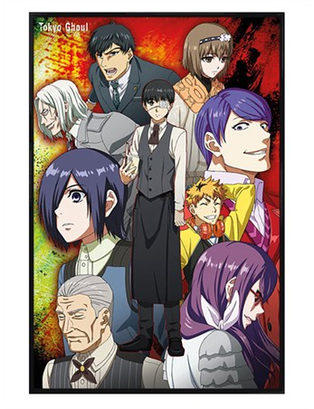 Gloss Black Framed A Ghoulish Group - Tokyo Ghoul