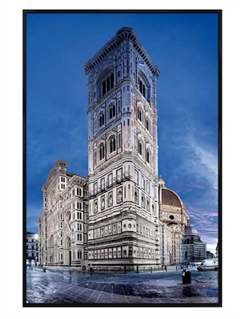 Gloss Black Framed Cattedrale di Santa Maria del Fiore - Florence Cathedral