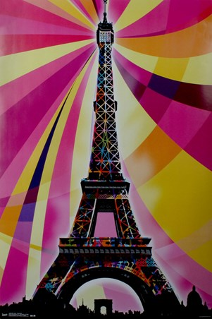 Psychedelic Landmark - Eiffel Tower