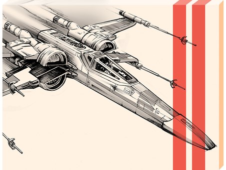 X-Wing Starfighter Pencil Art - Star Wars