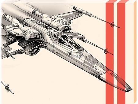 Framed X-Wing Starfighter Pencil Art - Star Wars