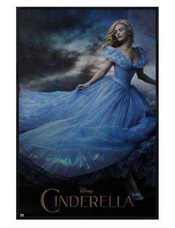 Gloss Black Framed Lily James is Cinderella - Disney's Cinderella
