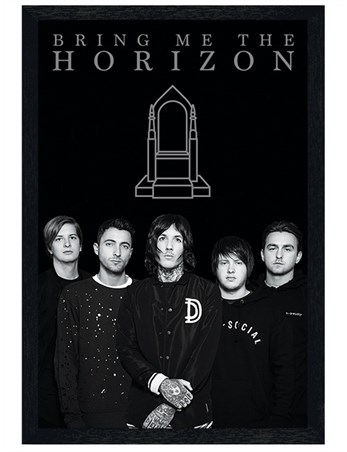 Black Wooden Framed Band Members - Bring Me The Horizon