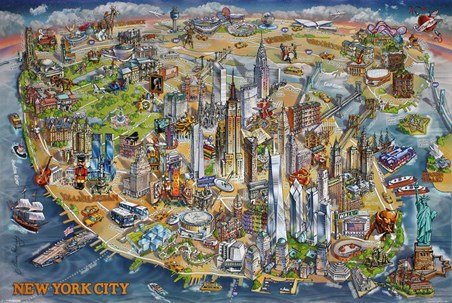 New York City Map - Maria Rabinky