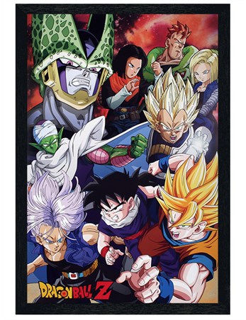 Black Wooden Framed Cell Saga - Dragon Ball Z