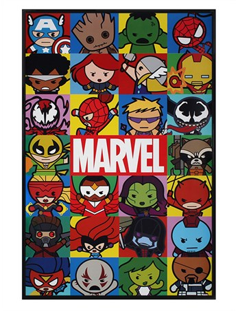 Gloss Black Framed Marvel - Kawaii Characters
